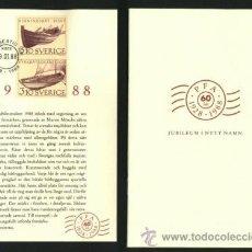 Sellos: SUECIA 1988 ANIVERSARIO PFA CON LIBRO INCLUIDO VER DETALLE. Lote 49719588