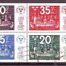 Sellos: SUECIA.STOCKHOLMIA 1974.VALORES USADOS.. Lote 50664215