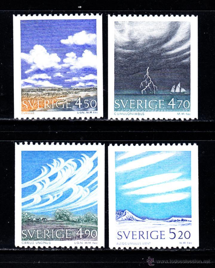 SUECIA 1617/20** - AÑO 1990 - METEOROLOGIA - NUBES (Sellos - Extranjero - Europa - Suecia)
