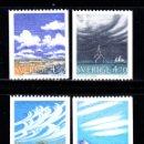 Sellos: SUECIA 1617/20** - AÑO 1990 - METEOROLOGIA - NUBES. Lote 157130837