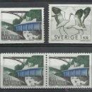 Sellos: SUECIA - 1968 - MICHEL 599/600 // SCOTT 744+751+759** MNH. Lote 53703717
