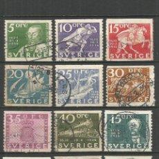 Sellos: SUECIA 1936 YVERT NUM. 235/246 SERIE COMPLETA USADA. Lote 54092535
