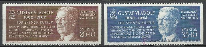 SUECIA - 1962 - MICHEL 498/499** MNH (Sellos - Extranjero - Europa - Suecia)