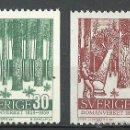 Sellos: SUECIA - 1959 - MICHEL 451/452** MNH. Lote 54137672