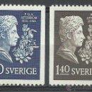 Sellos: SUECIA - 1955 - MICHEL 411/412** MNH. Lote 54137746