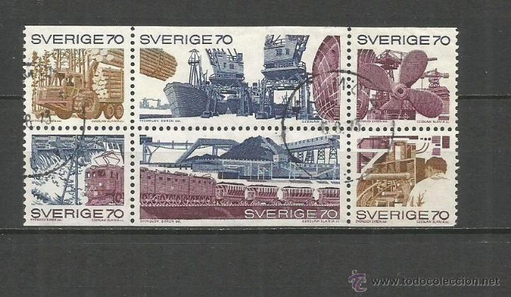 SUECIA YVERT NUM. 665/670 SERIE COMPLETA USADA (Sellos - Extranjero - Europa - Suecia)