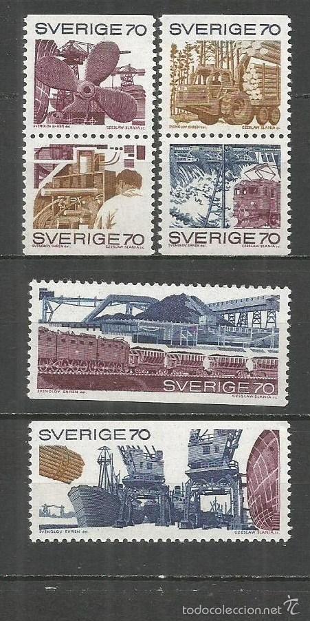 SUECIA YVERT NUM. 665/670 ** SERIE COMPLETA SIN FIJASELLOS (Sellos - Extranjero - Europa - Suecia)
