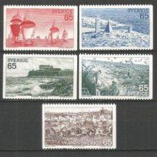 Sellos: SUECIA 1974 IVERT 833/7 *** TURISMO - PAISAJES DE LA COSTA DE SUECIA . Lote 57348149