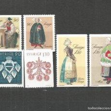 Sellos: SUECIA 1979 IVERT 1069/74 *** NAVIDAD - JOYAS Y TRAJES DEL FOLKLORE SUECO. Lote 57590148