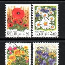 Briefmarken - SUECIA 1763/66 - AÑO 1993 - FLORA - FLORES CAMPESTRES - 65018119