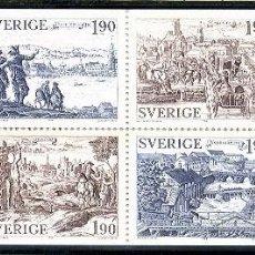Sellos: SUECIA 1984 - ANTIGUAS CIUDADES EN SUECIA - YVERT Nº 1274-1279** EN CARNET. Lote 75872451