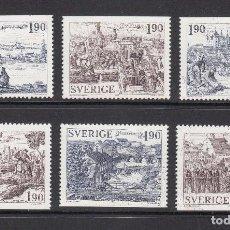 Sellos: SUECIA 1984 - ANTIGUAS CIUDADES EN SUECIA - YVERT Nº 1274-1279**. Lote 75873483