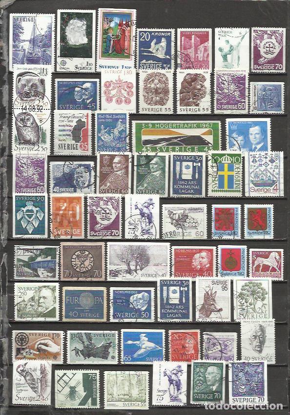 G199-LOTE DE SELLOS ANTIGUOS Y MODERNOS SUECIA ,SIN TASAR,UN SOLO SELLO TIENE UN PRECIO SUPERIOR AL (Sellos - Extranjero - Europa - Suecia)