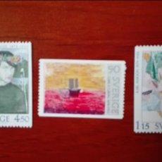 Sellos: SUECIA YVERT 1016/18** AÑO 1978 PINTURA. Lote 87792172