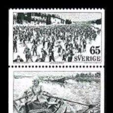 Sellos: SUECIA 1973 - TURISMO - YVERT Nº 773-777. Lote 97224163