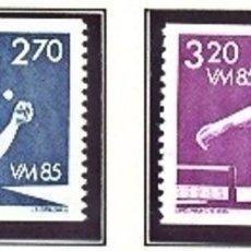Sellos: SUECIA 1985 - TENIS DE MESA - YVERT Nº 1308-1309. Lote 97224323