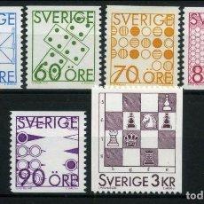 Sellos: SUECIA 1985 - JUEGOS DE SOBREMESA - YVERT Nº 1336-1040. Lote 97224735