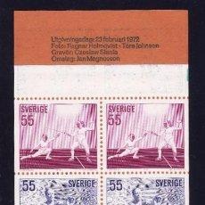 Sellos: SUECIA 1972 - DEPORTES - YVERT Nº 716-720 CARNET. Lote 97225223