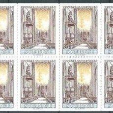 Sellos: SUECIA,1967,CARNET,CATEDRAL DE UPPSALA,YVERT 559,PRUEBA DE LUJO. Lote 98210268