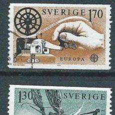Sellos: SUECIA,EUROPA,1976,YVERT 1040-1041,USADOS. Lote 98210272