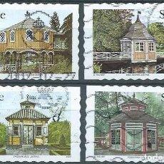 Sellos: SUECIA,ARQUITECTURA,2003,MICHEL 2356-2359,USADOS. Lote 98210276
