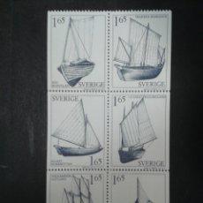 Timbres: SUECIA. YVERT 1134/9. SERIE COMPLETA NUEVA SIN CHARNELA. BARCOS. Lote 101663767
