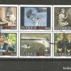 Sellos: SUECIA CENTENARIO DEL CINE YVERT NUM. 1882/1887 SERIE COMPLETA USADA. Lote 118737127