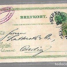 Sellos: SUECIA. ENTERO POSTAL. 1898.. Lote 128966807