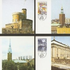 Sellos: SUECIA. CARTA MÁXIMA. 1985. STOCKHOLMIA 86. Lote 139612558