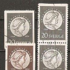 Sellos: SUECIA. 1954 YT 387, 388, 387B. Lote 140632650