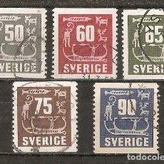 Sellos: SUECIA. 1954 YT 389/393. Lote 140633642