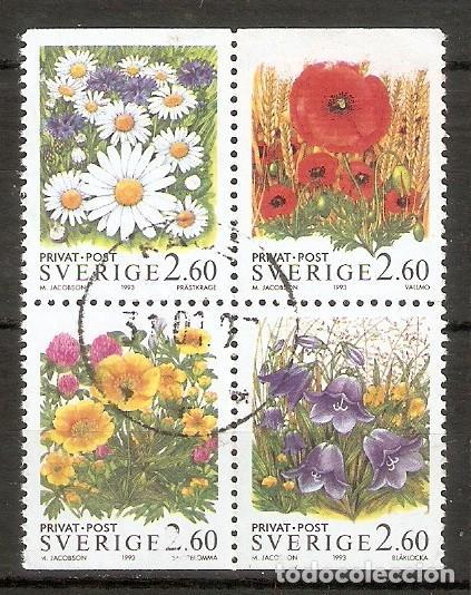 SUECIA. 1993 YT 1763/1766. FLORES (Briefmarken - Internationale - Europa - Schweden)