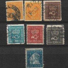 Sellos: SUECIA 1920-34 - USED - 18/18. Lote 146581546