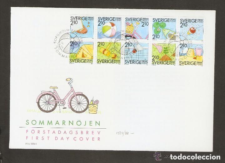 SUECIA .1989. FDC. 1524/33 (Sellos - Extranjero - Europa - Suecia)