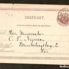 Sellos: SUECIA.1883.ENTERO POSTAL. SEX ORE. STOCKHOLM. Lote 147389138