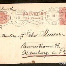 Sellos: SUECIA.1919.ENTERO POSTAL. 10 ORE. OREBRO. Lote 147389706