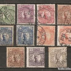 Sellos: SUECIA.1910-19. YT 62/72. CAT 22€. Lote 147390154
