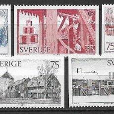 Sellos: SUECIA 1975 ** NUEVO SC 1124-1128 (5) 2.50 ARQUITECTURA - 3/7. Lote 155489590