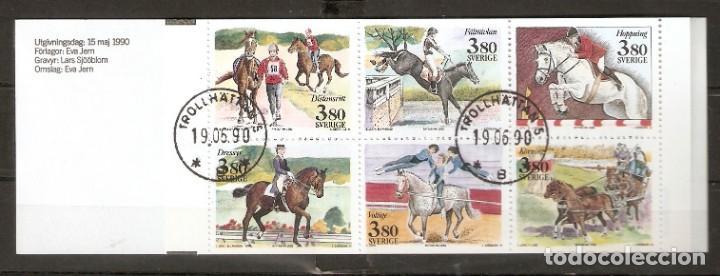 SUECIA. 1990 .CUADERNILLO. C1583. CABALLOS (Briefmarken - Internationale - Europa - Schweden)