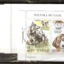 Sellos: SUECIA. 1989 .CUADERNILLO. C1551. PERROS. Lote 156633550