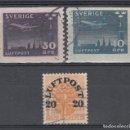 Sellos: SUECIA, 1920 -30 AÉREO, YVERT Nº 2, 4 / 5. Lote 159888410