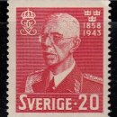 Sellos: SUECIA. 1943. 85 ANIVERSARIO GUSTAVO V. YVERT 298A **. Lote 159991770