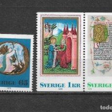 Sellos: SUECIA 1976 **/* NUEVOS - 5/14. Lote 163551034