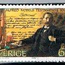 Sellos: SUECIA IVERT Nº 1899, CENTENARIO DEL TESTAMENTO DE ALFRED NOBEL, USADO. Lote 165081502