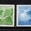 Sellos: SUECIA 950/51** - AÑO 1976 - PREMIO NOBEL DE LITERATURA 1916. Lote 167718300
