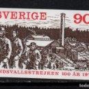 Sellos: SUECIA 1053** - AÑO 1979 - CENTENARIO DE LA 1ª HUELGA DE SUDSVALL. Lote 167719100