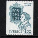 Sellos: SUECIA 1055** - AÑO 1979 - BICENTENARIO DEL NACIMIENTO DE JOHAN OLOF WALLIN. Lote 167719300