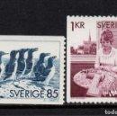 Sellos: SUECIA 917/18** - AÑO 1976 - FAUNA - AVES - ARTESANIA. Lote 168194136