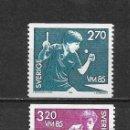 Sellos: SUECIA 1985 ** NUEVO DEPORTES PING PONG - 5/47. Lote 168372368