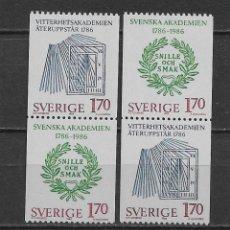 Sellos: SUECIA 1986 ** NUEVO - 5/48. Lote 168390516